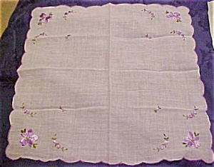 Handkerchief with lavendar flowers (Image1)