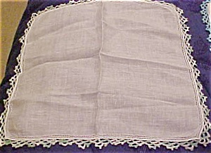 Handkerchief with green edging (Image1)