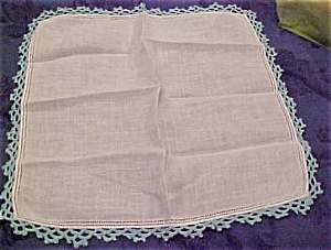 Handkerchief with blue edging (Image1)