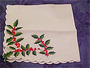 Handkerchief  with Holly (Image1)
