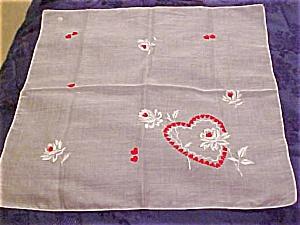 heart deisgn handkerchief (Image1)