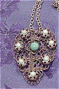 Czechoslovakian  filligree necklace (Image1)