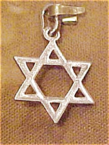 Sterling Jewish star charm (Image1)