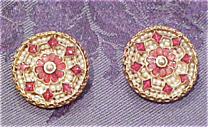 Eugene enamel and faux pearl earrings (Image1)