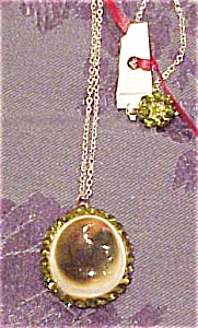 Shell pendant with rhinestones (Image1)