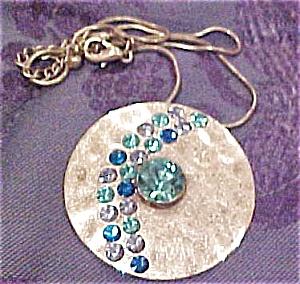 Contemporary Silvertone pendant (Image1)