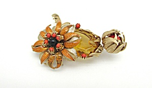 Eugene Enameled Flower Brooch (Image1)