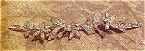 Rhinestone flower trembler brooch (Image1)