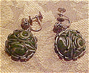 Bakelite and metal earrings (Image1)