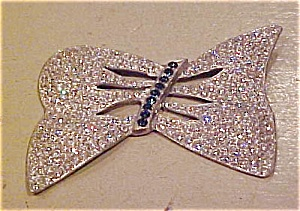 Large rhinestone bow pin (Image1)