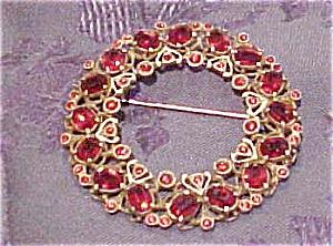 Czechoslovakian enamel & Rhinestone brooch (Image1)