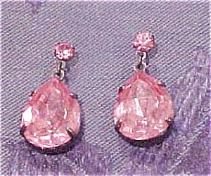 Pink rhinestone earrings (Image1)