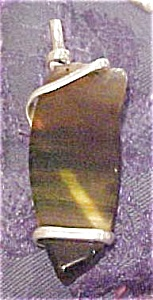 Glass wrapped in sterling pendant (Image1)