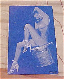 Pin up postcard with blue tint (Image1)