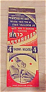 Pin up matchbook cover (Image1)