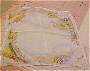 Handpainted silk handkerchief (Image1)