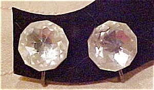 Faceted glass earrings (Image1)