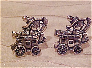 Silvel Wagon and Driver cufflinks (Image1)