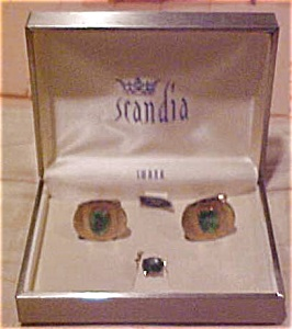 Swank Scandic cufflinks and tie tack (Image1)
