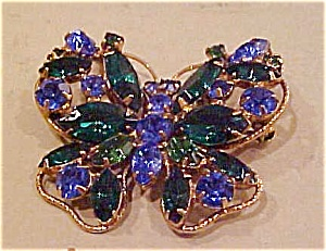 Rhinestone butterfly pin (Image1)