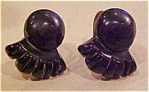 Carved Bakelite earrings (Image1)