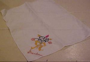 Grandma embroidered handkerchief (Image1)
