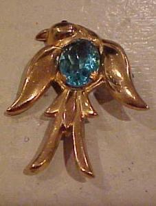 Coro Bird Pin With Blue Belly