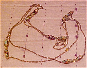 Necklace with Italian glass beads (Image1)