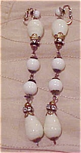 Glass bead and rhinestone earrings (Image1)