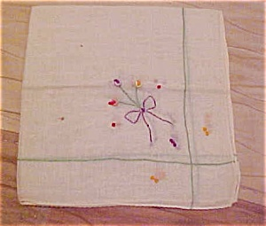 Handkerchief with bow and flower design (Image1)