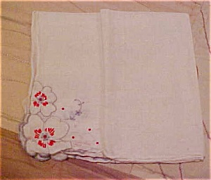 Handkerchief with flowers (Image1)