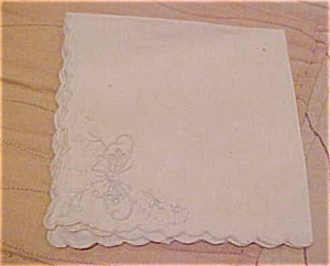 Handkerchief with embroidered flowers (Image1)