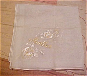 Handkerchief with mother embroidery (Image1)