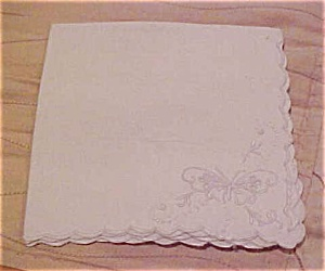 Handkerchief with butterfly design (Image1)