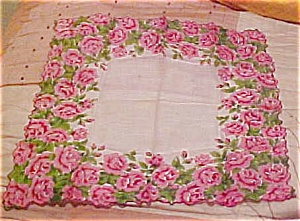 Handkerchief with roses (Image1)