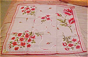 Red flower bouquet handkerchief (Image1)