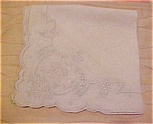 Grey/blue handkerchief  with embroidery (Image1)