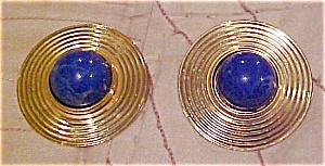 Contemporary earrings with lapis (Image1)