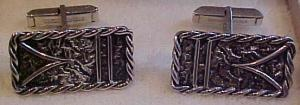 Howard Farley sterling cufflinks in box (Image1)