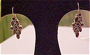 Sterling and garnet earrings (Image1)