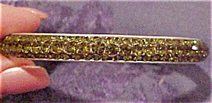 Green rhinestone bangle (Image1)