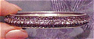 Contemporary lavendar rhinestone bangle (Image1)