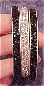 3 Contemporary rhinestone bangles (Image1)