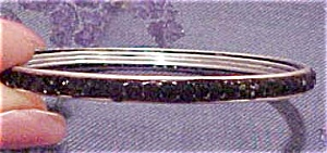 Contemporary black rhinestone bangle (Image1)