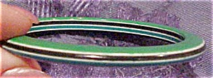 Laminated resin layered bangle green, blk (Image1)
