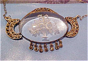Etched glass pendant with marcasites (Image1)