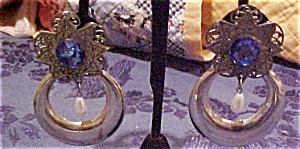 Silver earrings w/removeable hoop (Image1)