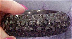 Thermoplastic Bangle w/rhinestones (Image1)