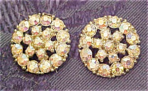 2 rhinestone metal buttons (Image1)