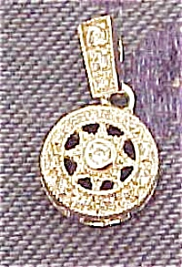 Sterling and rhinestone pendant (Image1)